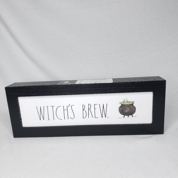 Rae Dunn Other - NEW Rae Dunn WITCHS BREW Halloween Wooden Sign